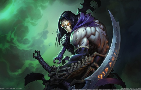 Picture death, weapons, freak, monster, sword, darksiders