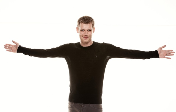 Picture white, background, actor, male, Joseph Morgan, Joseph Morgan