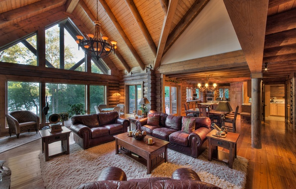 Wallpaper living room luxury wooden tennessee home for Luxury home wallpaper