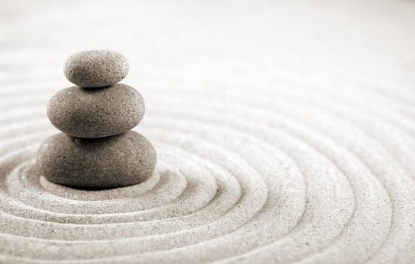 Picture Sand, Stones, Zen