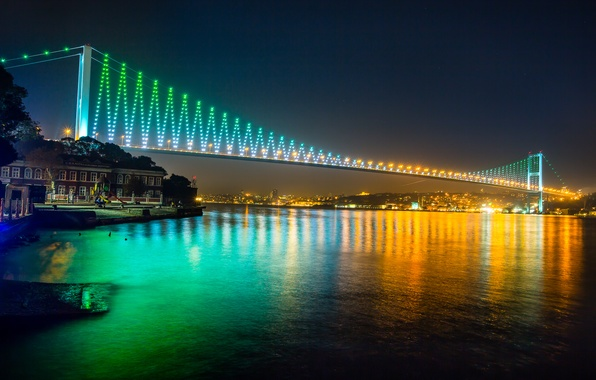 Picture night, nature, city, the city, lights, lights, building, nature, Istanbul, Turkey, night, Istanbul, buildings, turkey, …