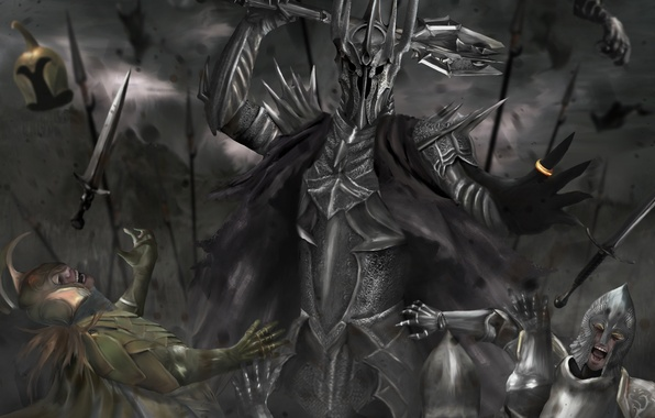 Picture army, the Lord of the rings, ring, art, battle, Mace, armor, the lord of the …