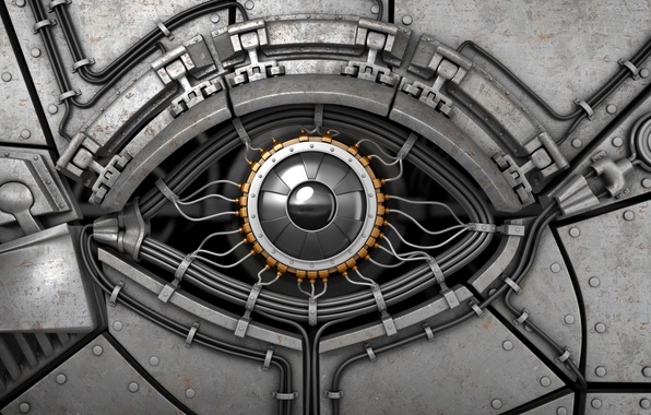 Picture look, metal, abstraction, eyes, background, interface, steel, mechanism, robot, rust, art, cyborg, robot, Android, android, …