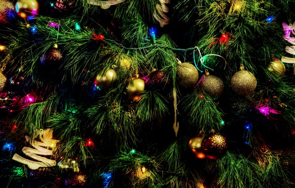 Picture toys, tree, christmas, happy, holidays, new, year, merry