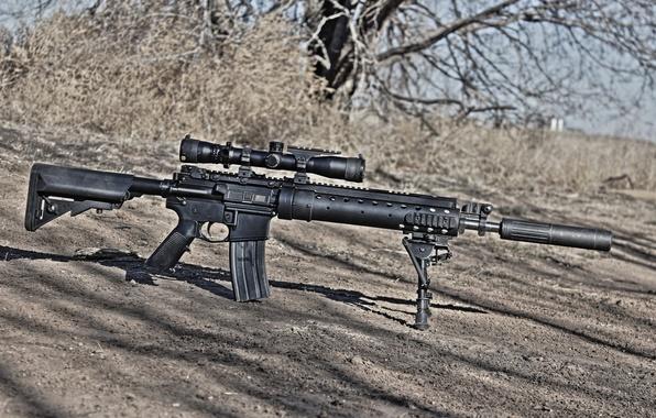 Picture weapons, optics, rifle, sniper, SPR, MK12
