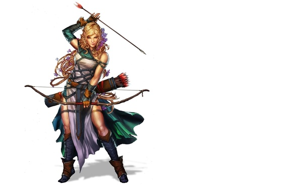 Picture look, girl, fiction, bow, Archer, art, arrows