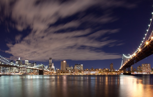 Picture the sky, clouds, city, the city, lights, the evening, panorama, new York, USA, new york, …