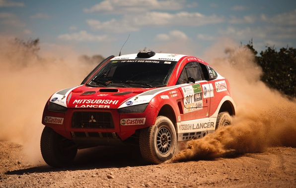 Picture Auto, Dust, Sport, Desert, Machine, Speed, Race, Mitsubishi, Mitsubishi, Rally, Dakar, Dakar, SUV