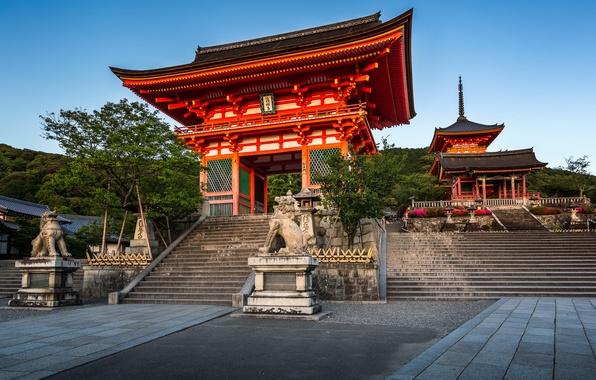 Picture gate, Japan, temple, Japan, Kyoto, Kyoto, Kiyomizu-dera Temple, The Gate Of The Nio, Deva gate, …