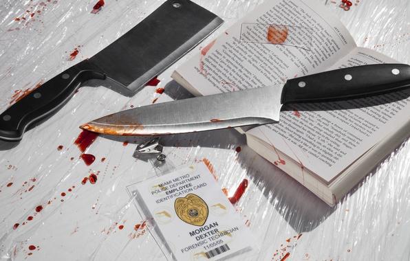 Picture knife, book, Dormant demon Dexter