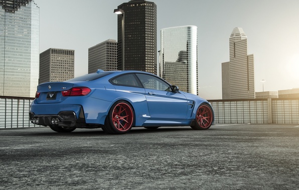 Picture BMW, Blue, Vorsteiner, Sun, Widebody, Rear, Photoshoot, GTRS4