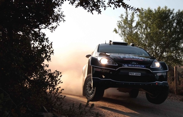 Picture Ford, Auto, Black, Sport, Machine, Speed, Ford, Lights, WRC, Rally, Rally, Fiesta, The front