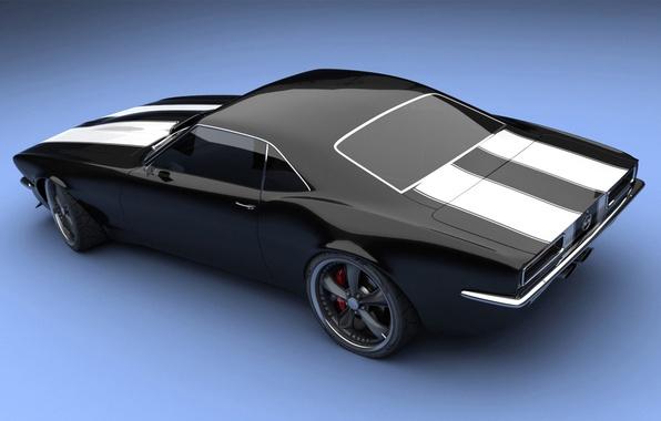 Picture black, Chevrolet, the concept car, Camaro SS