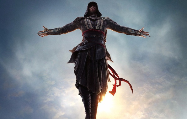 Picture jump, assassin, Assassin's Creed, Michael Fassbender, Assassin's Creed
