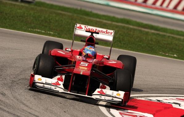 Picture ferrari, Ferrari, alonso, Alonso, f2012