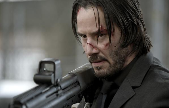 Picture look, weapons, Keanu Reeves, Keanu Reeves, John Wick
