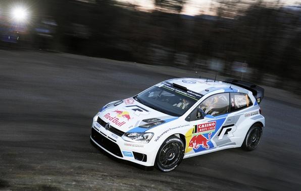 Picture Auto, White, Volkswagen, Speed, Turn, WRC, Rally, Polo, Sebastien Ogier, Ancestor