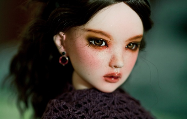 Picture doll, brown eyes, doll, BJD
