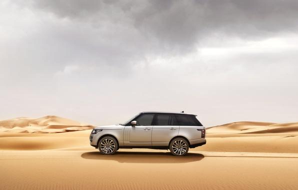 Picture sand, car, machine, desert, Range Rover, range Rover, Land Rower
