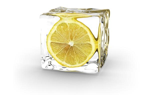 Picture minimalism, Lemon, Ice Cube