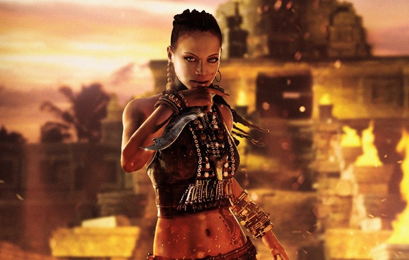 Picture look, girl, fire, blood, island, knife, beads, dagger, bracelet, Queen, Ubisoft, Far Cry 3, sister, …