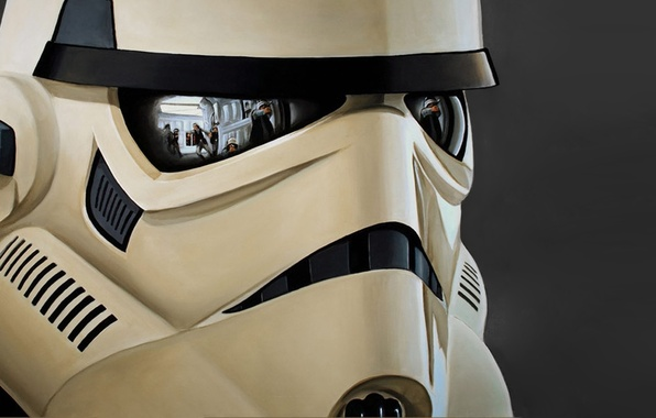 Picture reflection, helmet, star wars, attack, trooper, the rebels