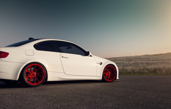 Picture car, BMW, white, Vorsteiner, tuning, E92