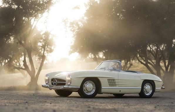 Picture car, mercedes, retro