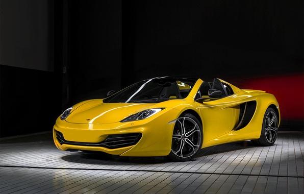 Picture yellow, McLaren, before, yellow, MP4-12C, front, McLaren