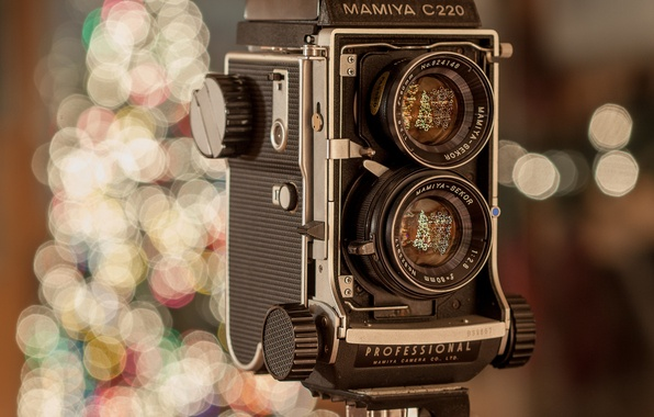 Picture lights, holiday, new year, the camera, lenses, lenses, MAMIYA