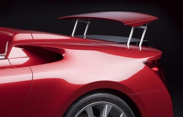 Picture machine, red, lexus, red, spoiler, cars, auto, Lexus