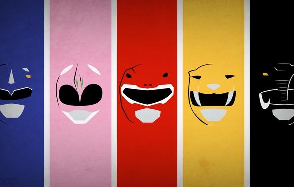 Picture minimalism, blo0p, The Rangers, Power Rangers