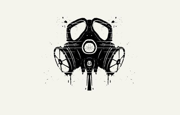 Picture background, Wallpaper, minimalism, vector, art, Respirator