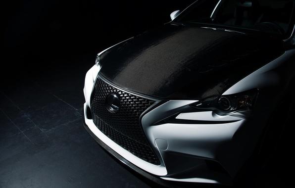 Picture Lexus, Tuning, IS 350, black & white, Seibon, Sema