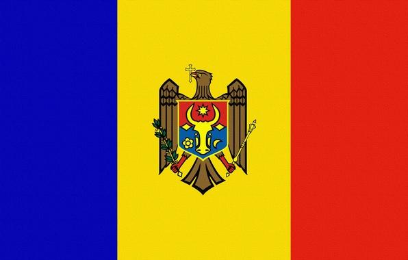 Picture Flag, Coat of arms, Moldova, Moldova