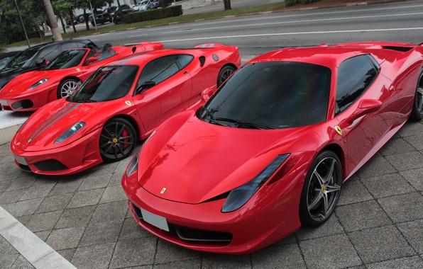 Picture Ferrari, Red, Supercars, 458 Spider, 430 Scuderia, F430 Spider