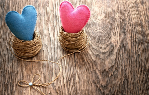 Picture heart, hearts, love, heart, wood, romantic