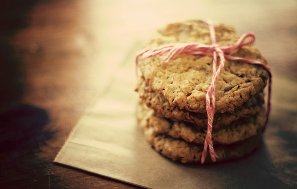 Picture macro, photo, table, Wallpaper, cookies, thread