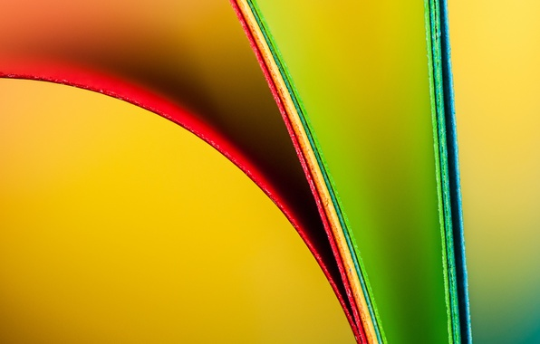 Picture macro, sheet, paper, color, rainbow, bending