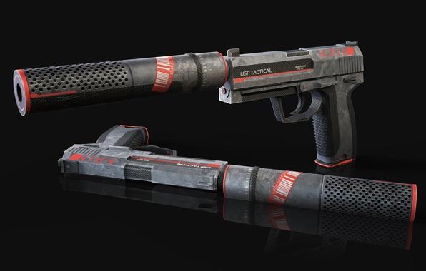 Picture colors, pistols, design