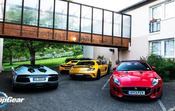 Picture McLaren, Roadster, Mercedes-Benz, Jaguar, Lamborghini, SLS, MP4-12C, Aventador, Supercars, Black Series, Supercars, F-Type, Top, Gear, …