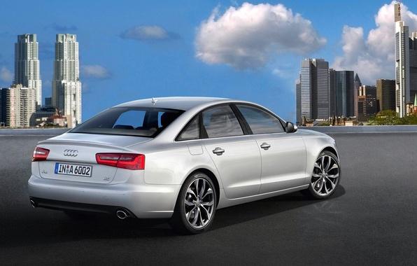Picture the city, Audi, Auto, Grey, Day, Sedan
