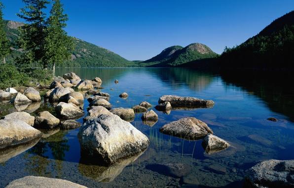 Picture lake, Park, pond, Park, Jordan, national, National, Acadia, Maine, Pond
