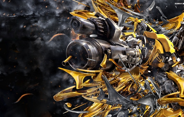 Picture transformers, robot, transformers, bumblebee