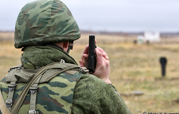 Picture soldiers, fighter, helmet, Russian, the shooting range camouflage