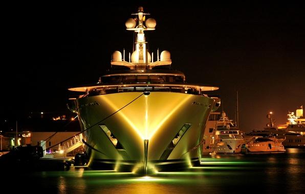 Yachts At Night Wallpaper night, light...