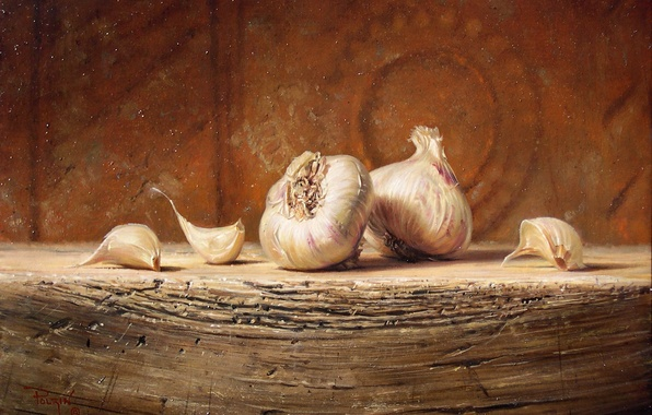 Picture macro, table, figure, picture, still life, reproduction, garlic, Kyle, Polzin
