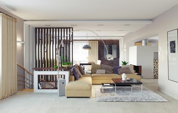 Picture flowers, design, furniture, lamp, living room, design