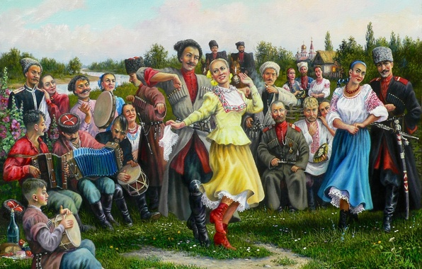 Picture holiday, art, Cossacks, Andrey Lyakh