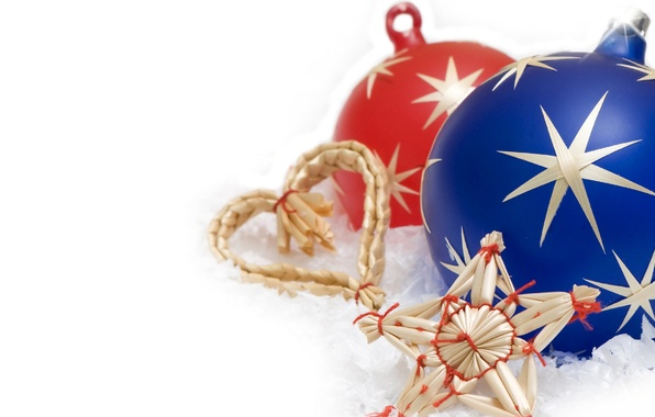 Picture decoration, toys, star, new year, ball, Christmas